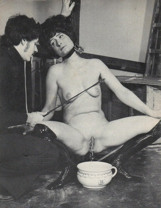 bondage pissing in chamberpot